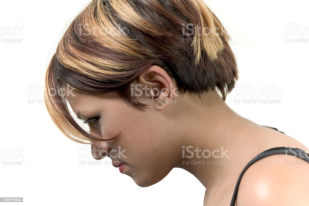 girl with piercings royalty-free stock photo