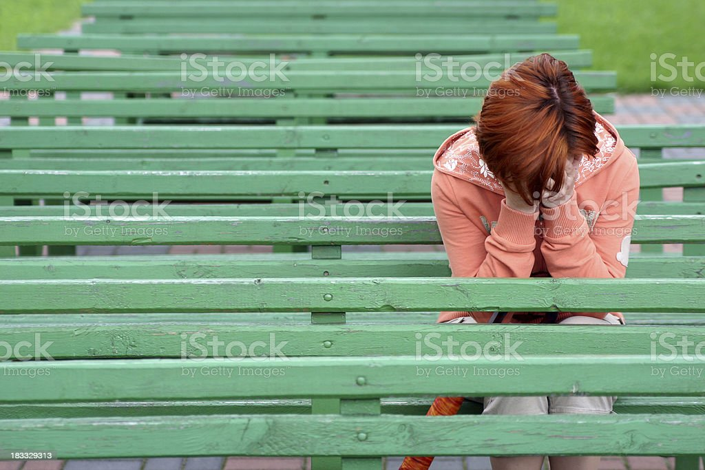 Girl with problems royalty-free stock photo