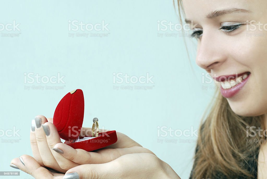 girl with ring royalty-free stock photo