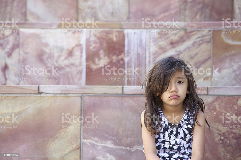 Girl With Sad/Disappointed Face royalty-free stock photo