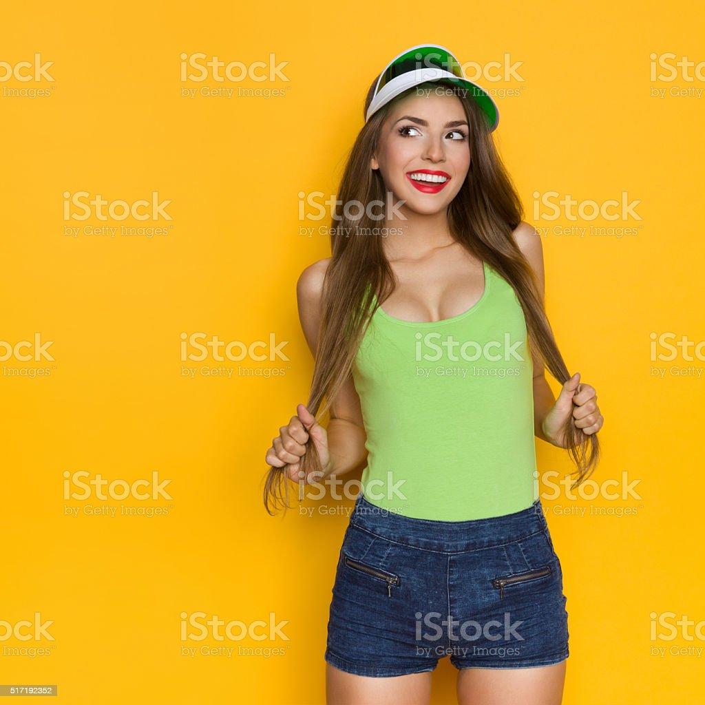 Girl With Sexy Neckline stock photo