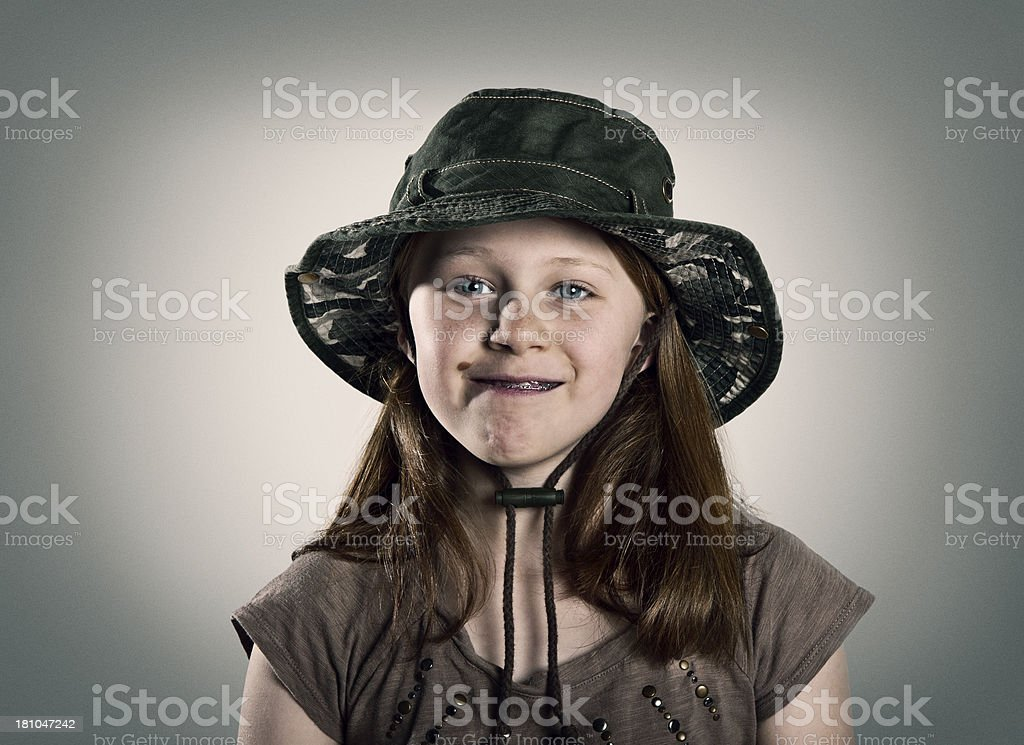 Girl with silly face Portrait royalty-free stock photo