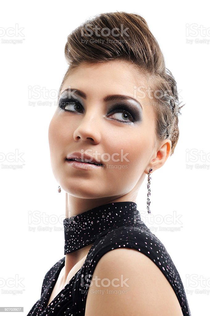 girl with style hairstyle royalty-free stock photo