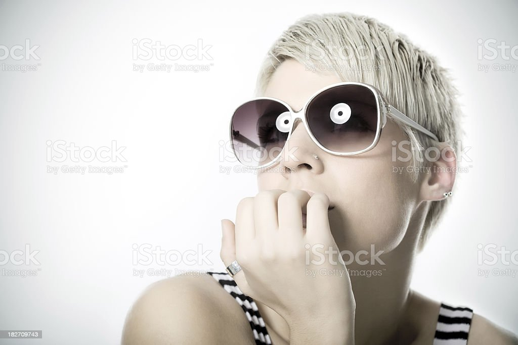 girl with sunglasses royalty-free stock photo