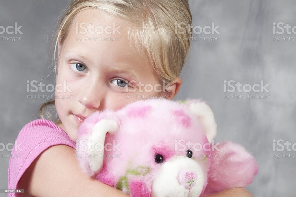 Girl with Teddy Bear Series royalty-free stock photo