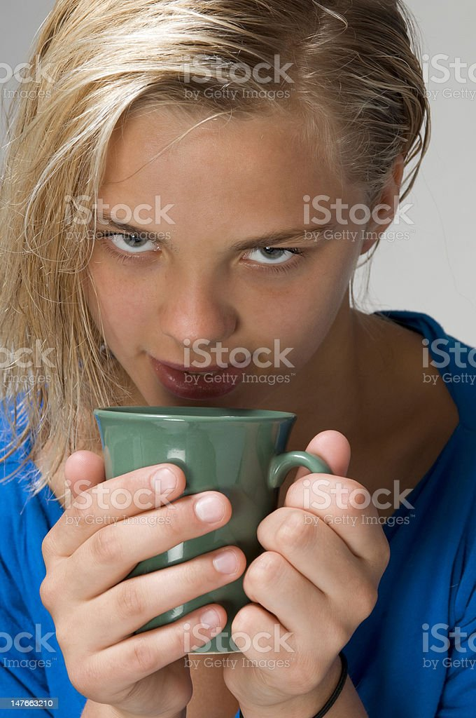 girl with the cup royalty-free stock photo