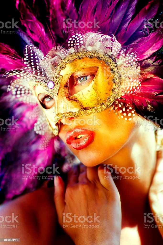 Girl with the mask royalty-free stock photo