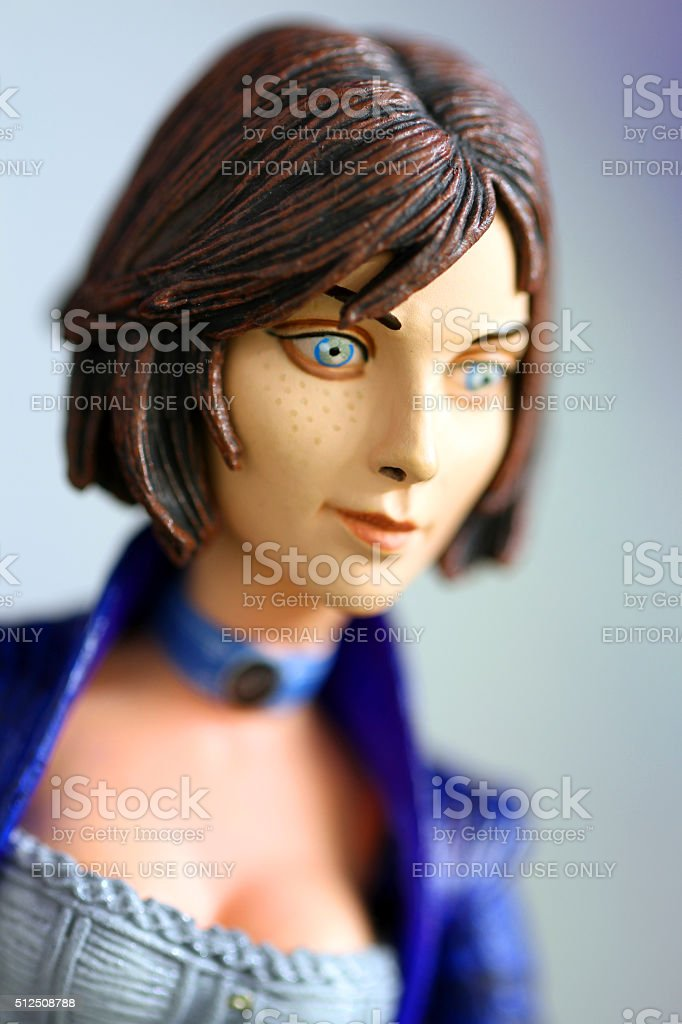 Girl With the Portals stock photo