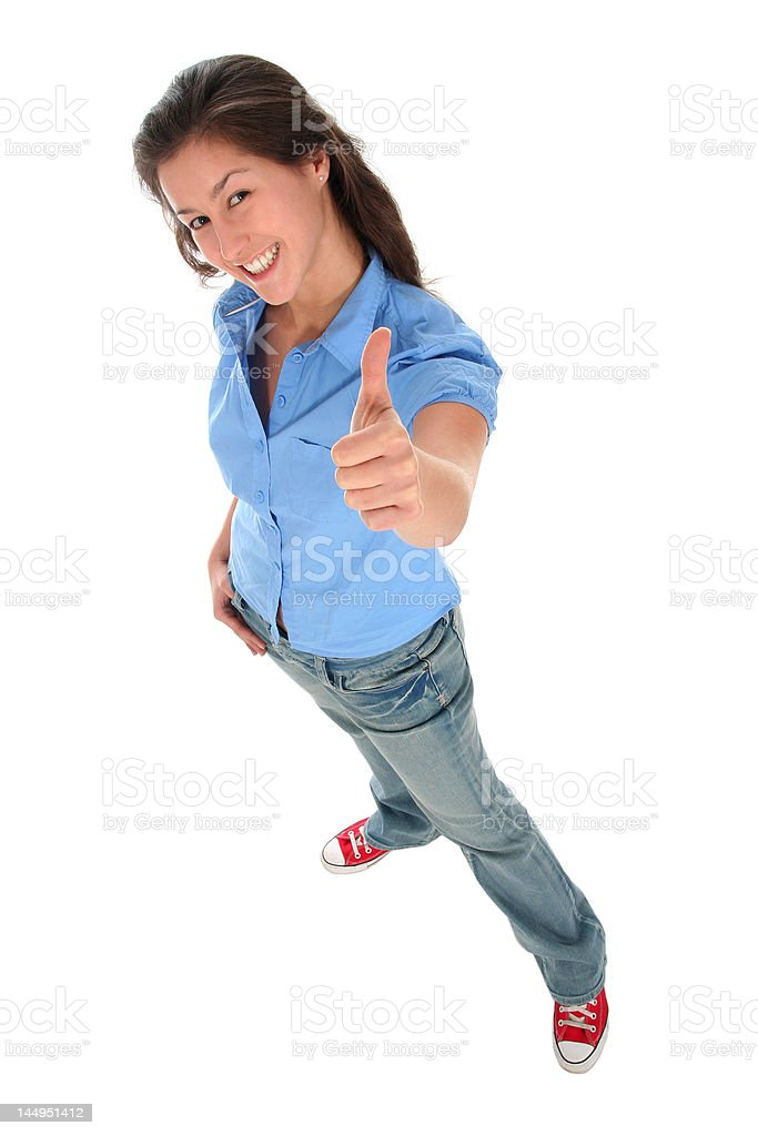 Girl With Thumb Up royalty-free stock photo