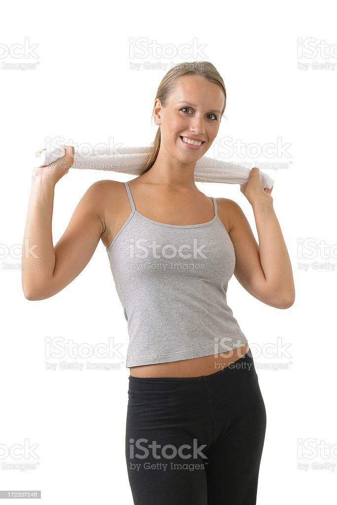 Girl with towel royalty-free stock photo