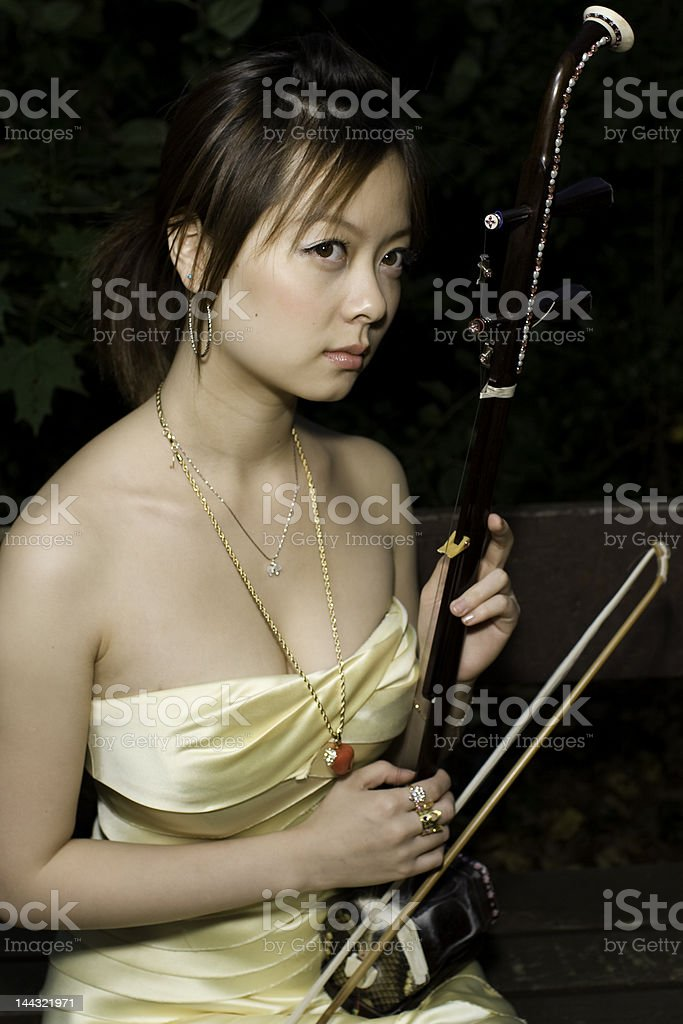 girl with urheen royalty-free stock photo
