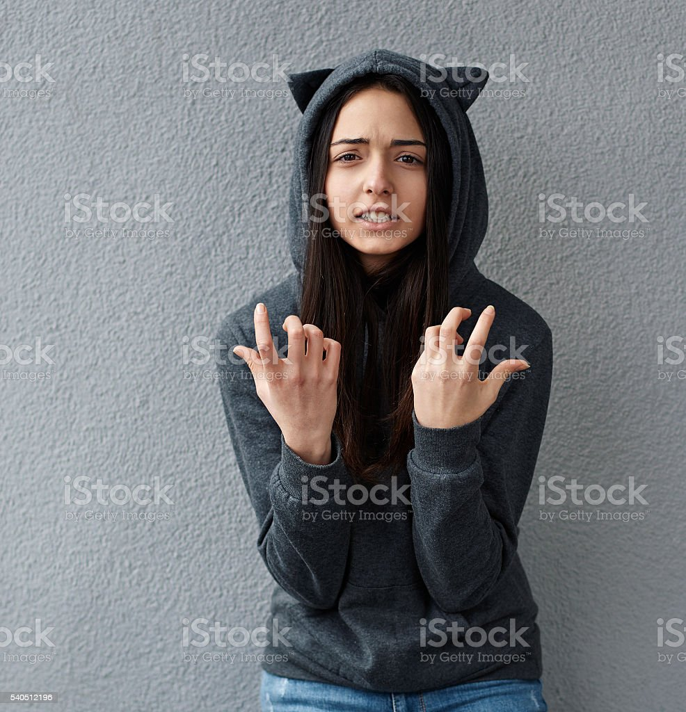 girl wonders how this can be stock photo