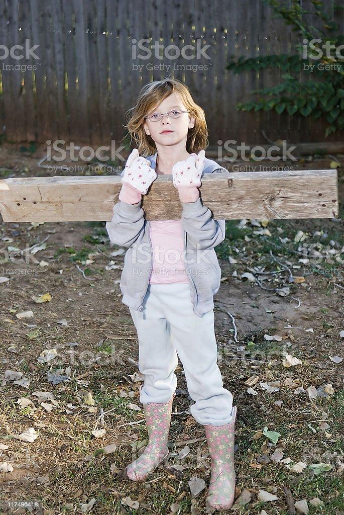 Mädchen Arbeiten Lizenzfreies stock-foto