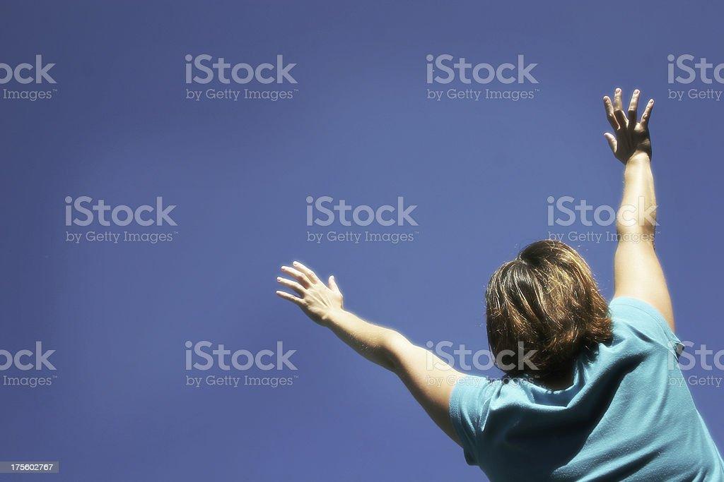 Girl Worshiping II royalty-free stock photo