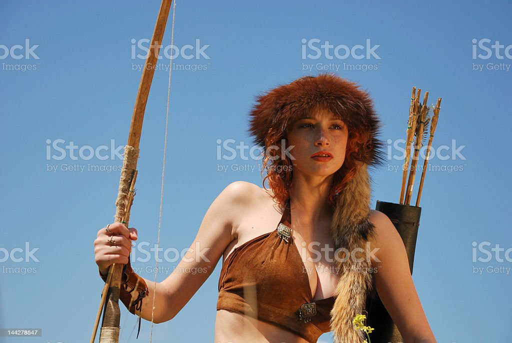 Girl-archer royalty-free stock photo