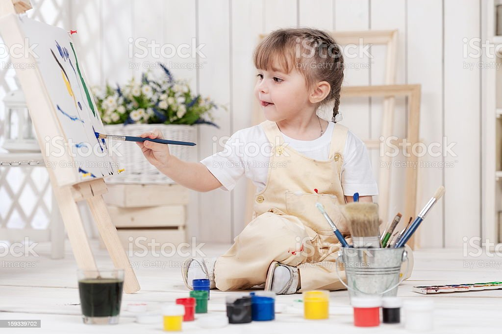 Girl-artist royalty-free stock photo