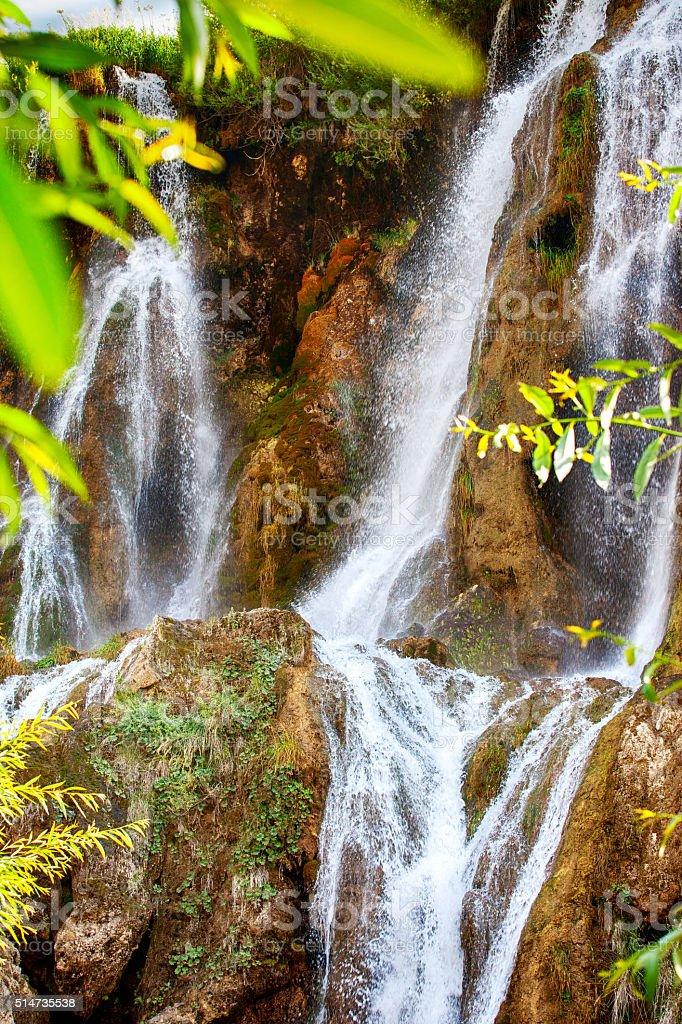 Girlevik Waterfall stock photo