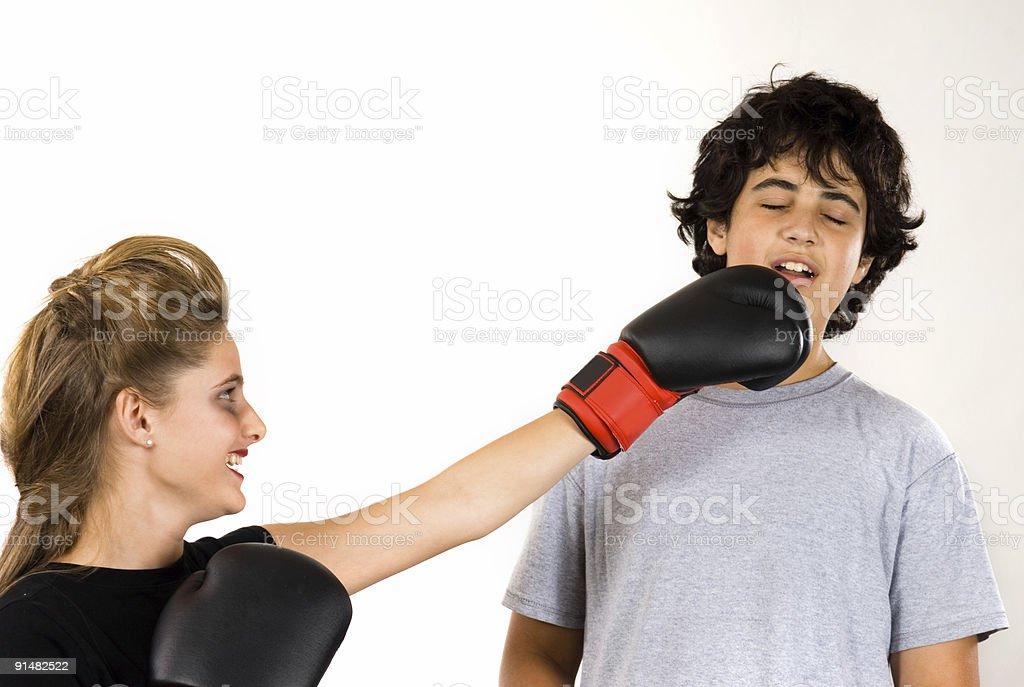 Girlfiend revenge royalty-free stock photo