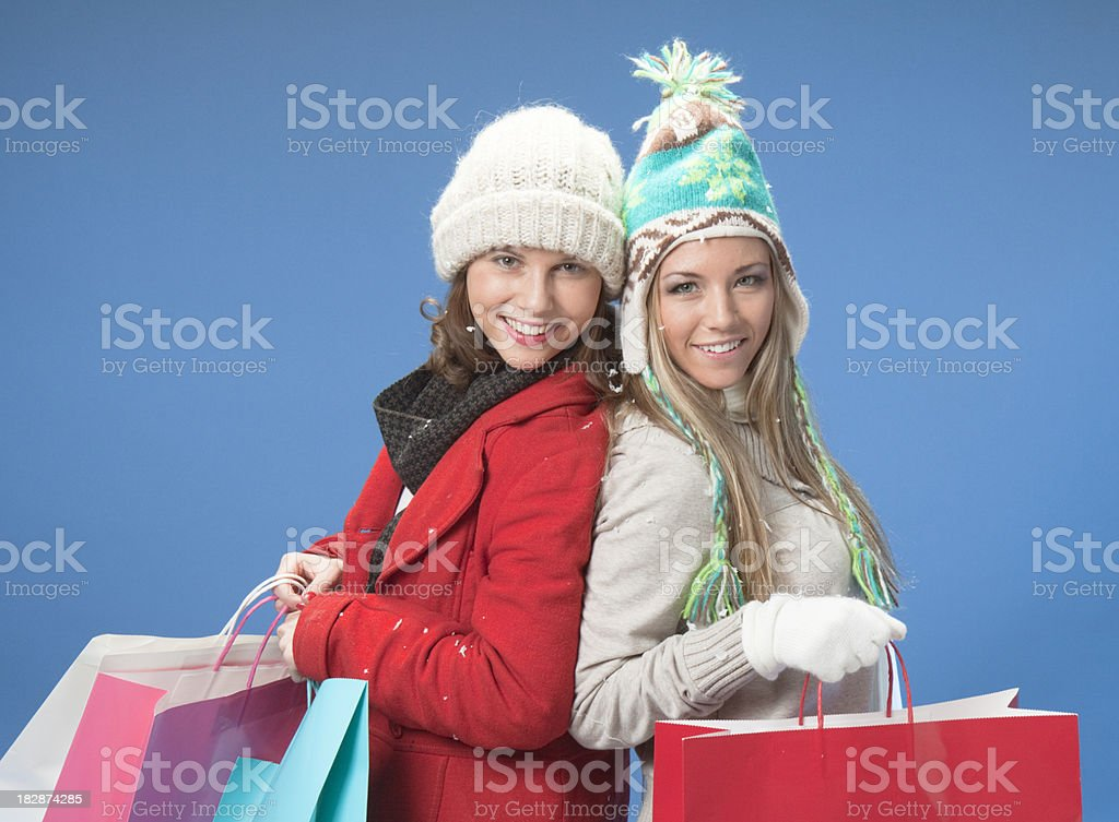 Girlfriend Shopping Spree royalty-free stock photo