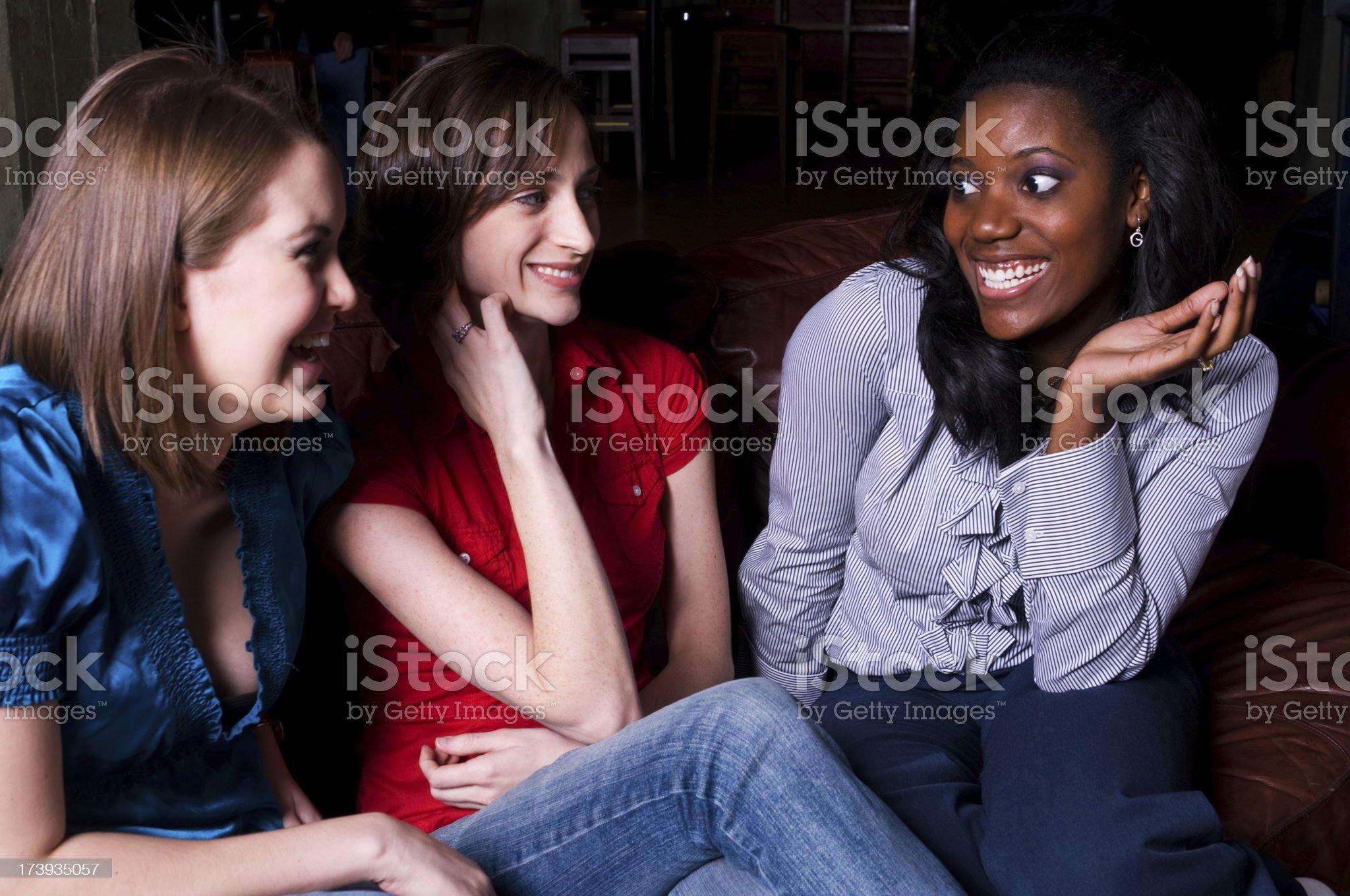Girlfriends Chatting royalty-free stock photo