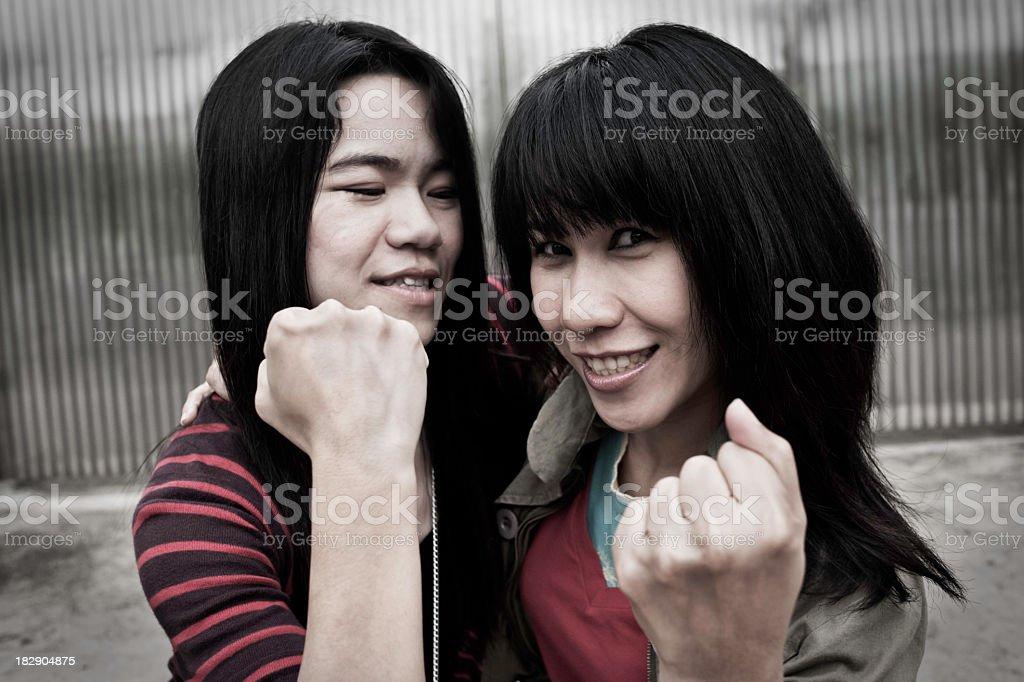 Girlfriends Having Fun royalty-free stock photo