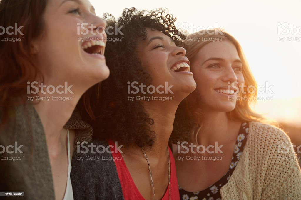 Girlfriends having fun! stock photo