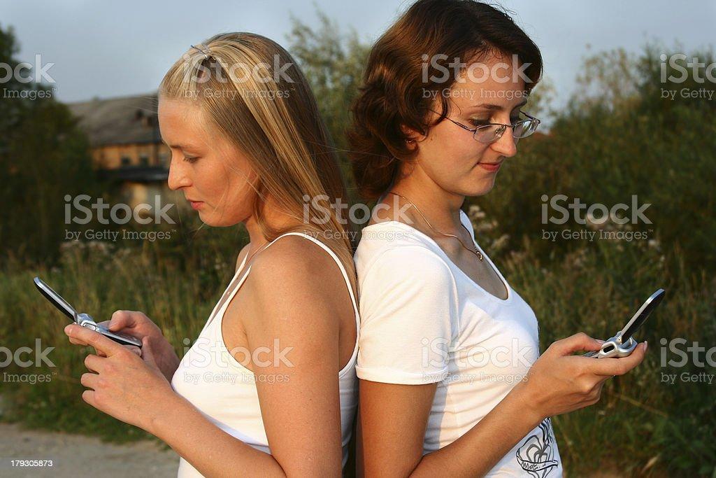 girlfriends royalty-free stock photo