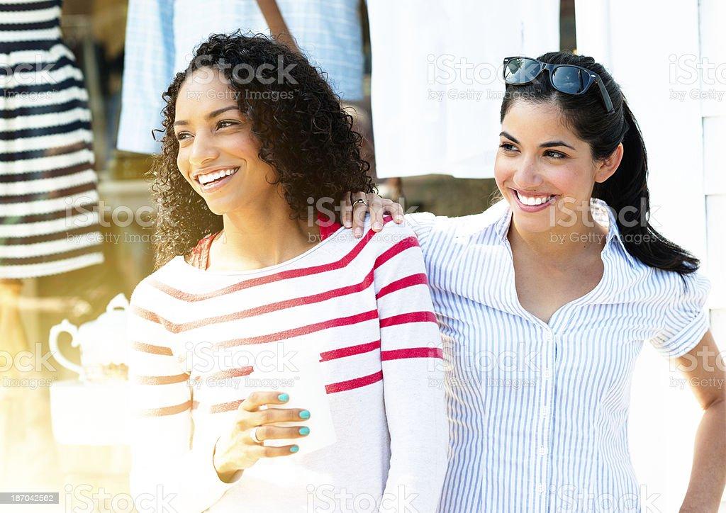 Girlfriends stock photo