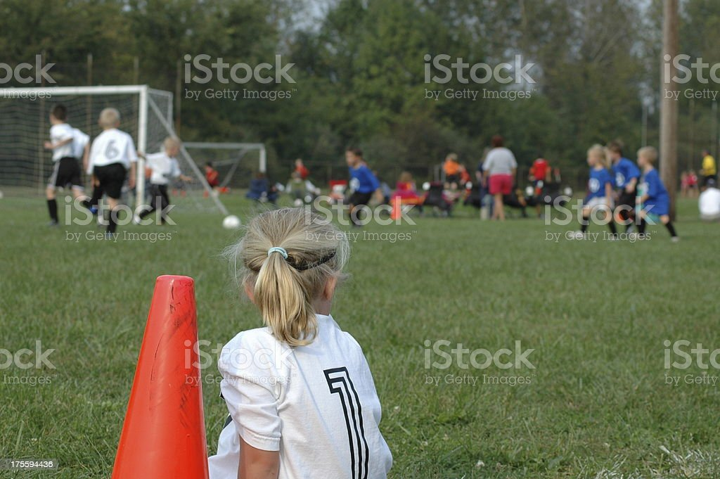 Girls and Boys Youth Soccer - I Want To Play! stock photo