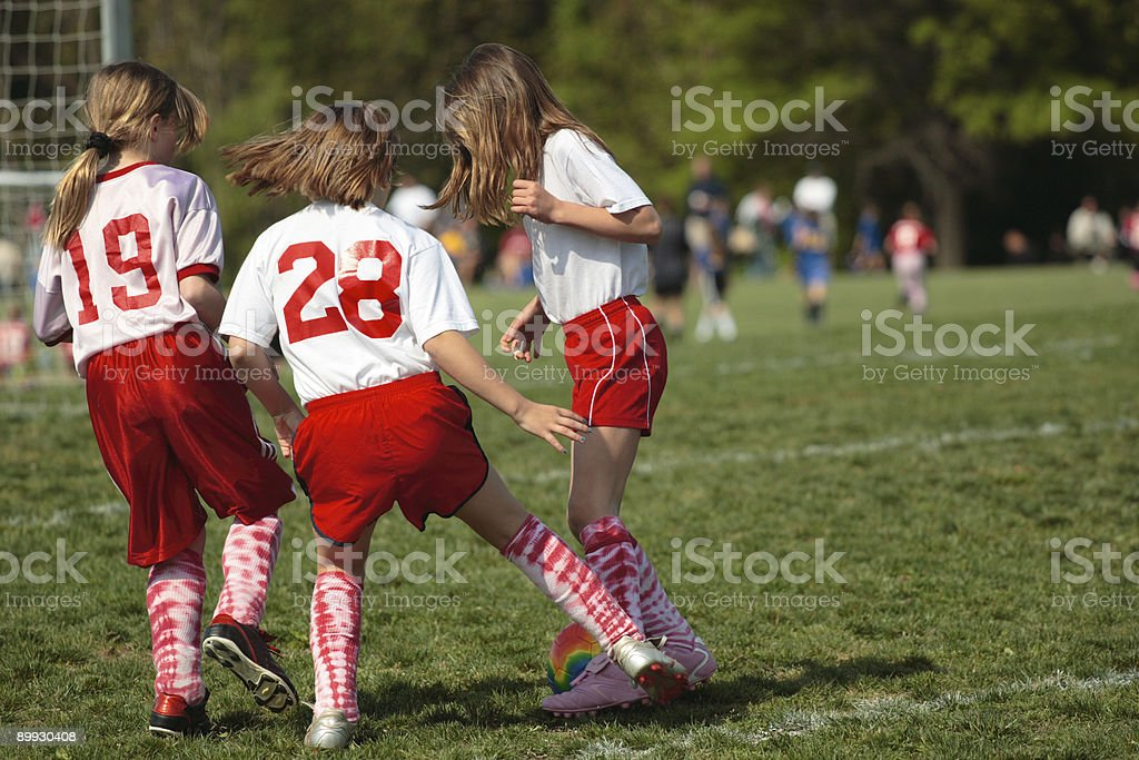 Girls at Soccer Field royalty-free stock photo