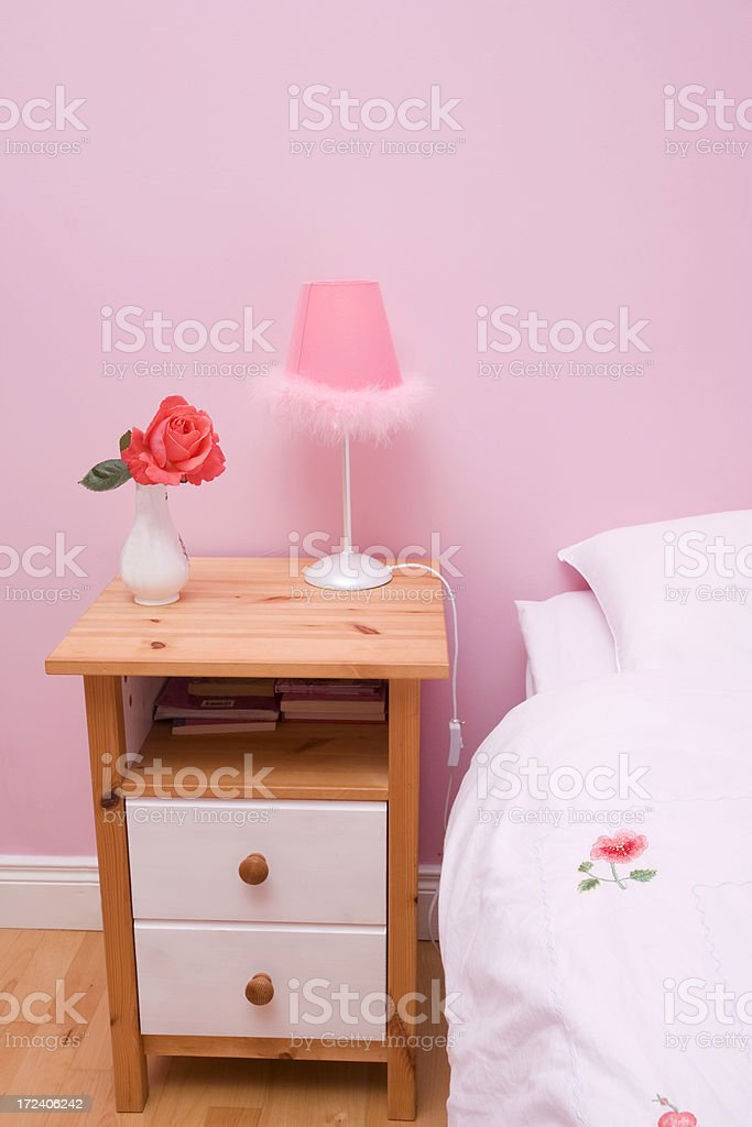 girl's bed room royalty-free stock photo