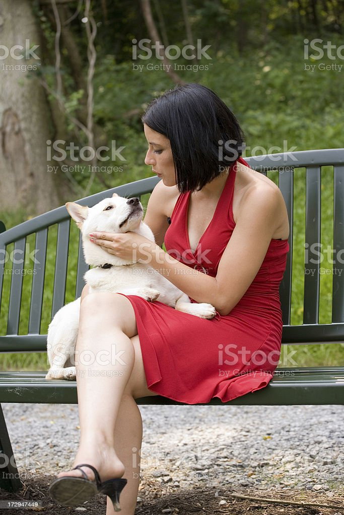Girl's Best Friend stock photo