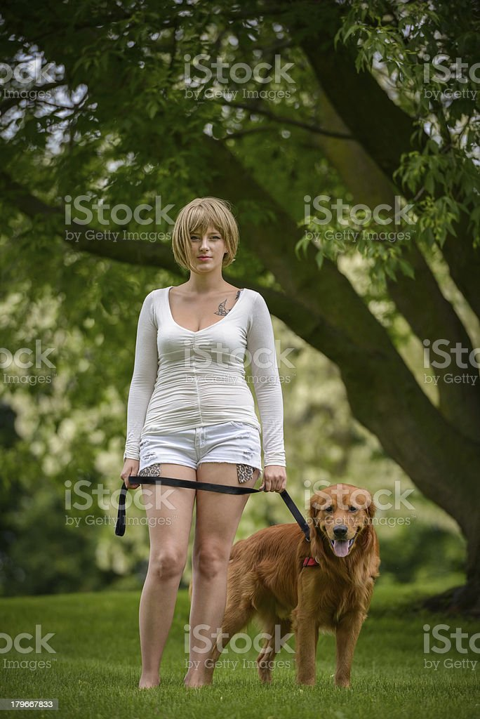 Girl's Best Friend royalty-free stock photo