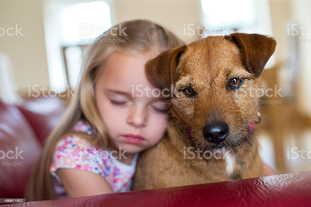 Girl's best Friend stock photo