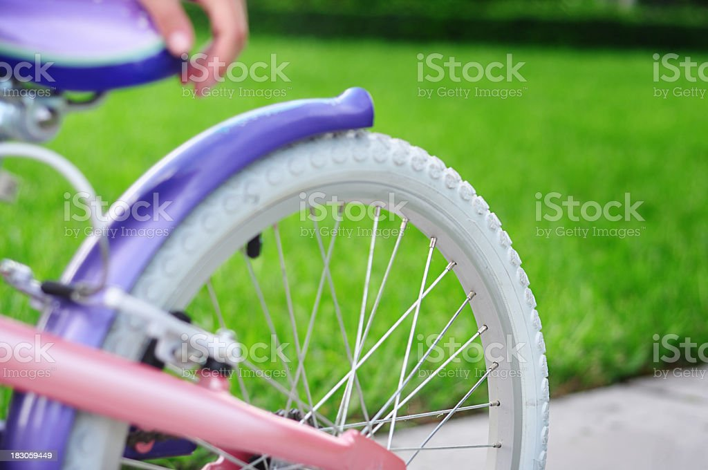 Girl's Bicycle detail stock photo
