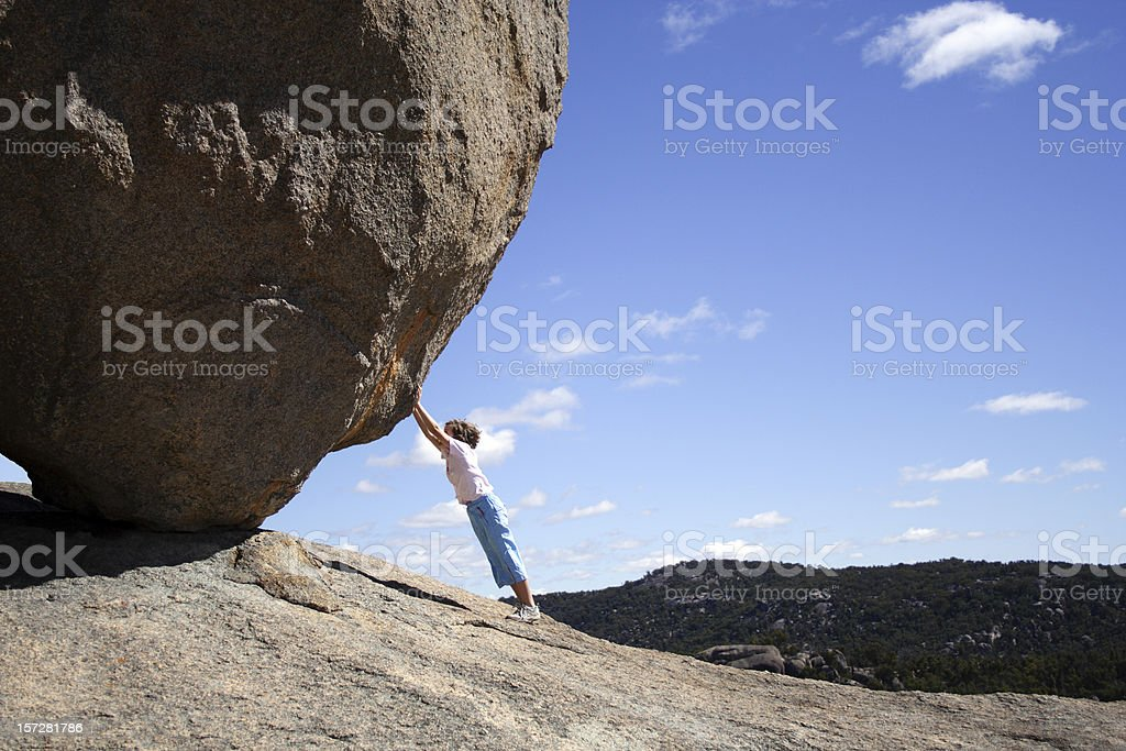 Girls can do anything! stock photo