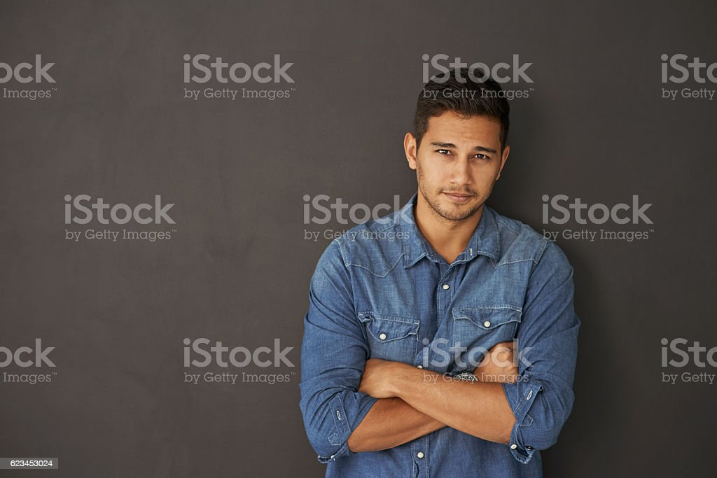 Girls can't keep their eyes off him stock photo