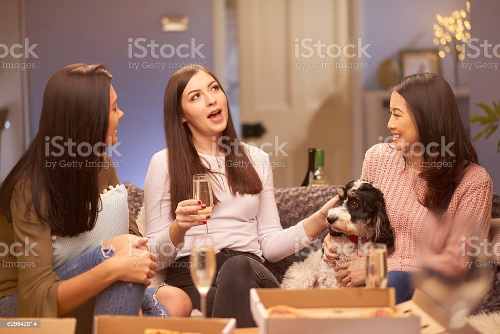 girl's catch up stock photo