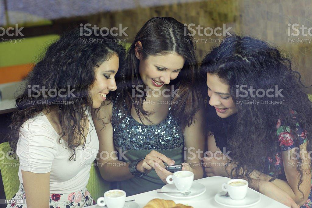 Girls celebrate birthday royalty-free stock photo