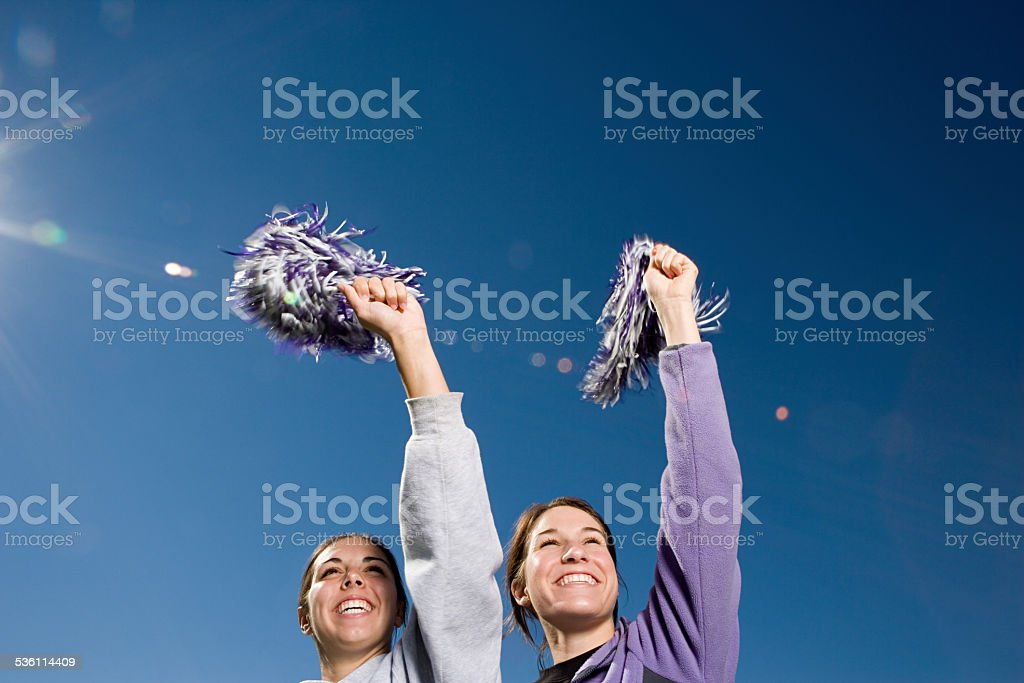 Girls cheerleading stock photo
