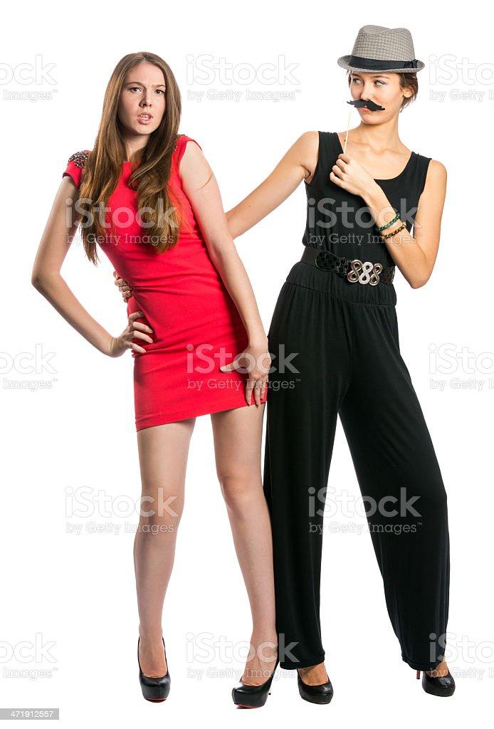 Girls couple royalty-free stock photo