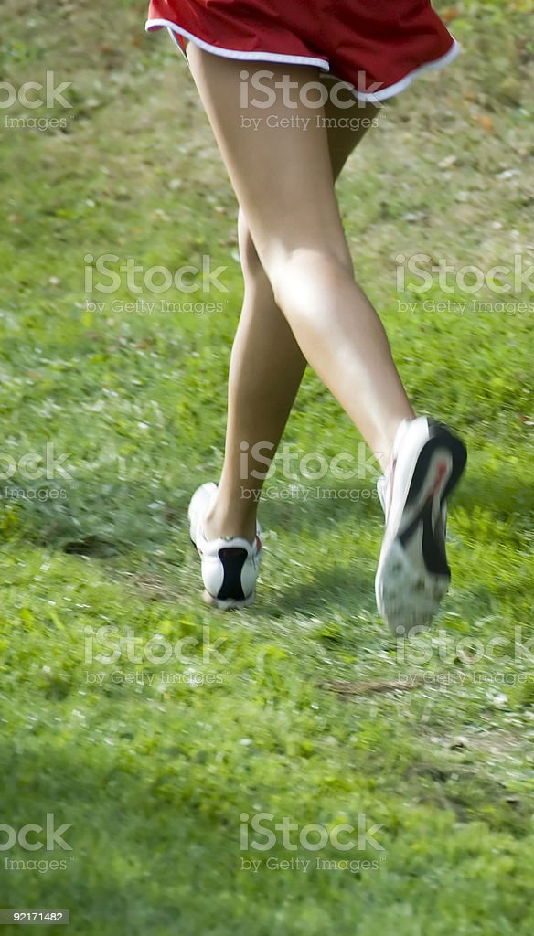 Girls Cross Country Race royalty-free stock photo