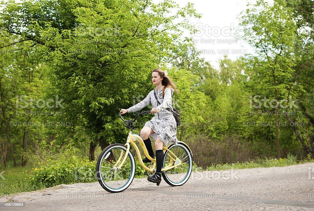 Girls Custom Bikes Parade in Kiev, Ukraine royalty-free stock photo