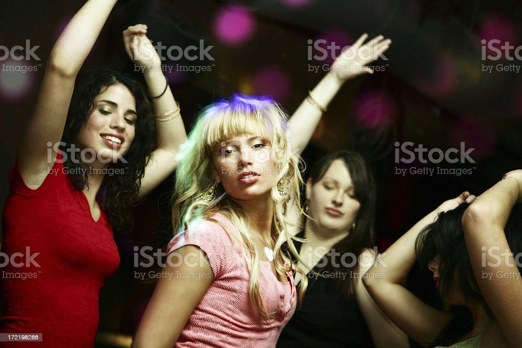 Girls Dancing royalty-free stock photo