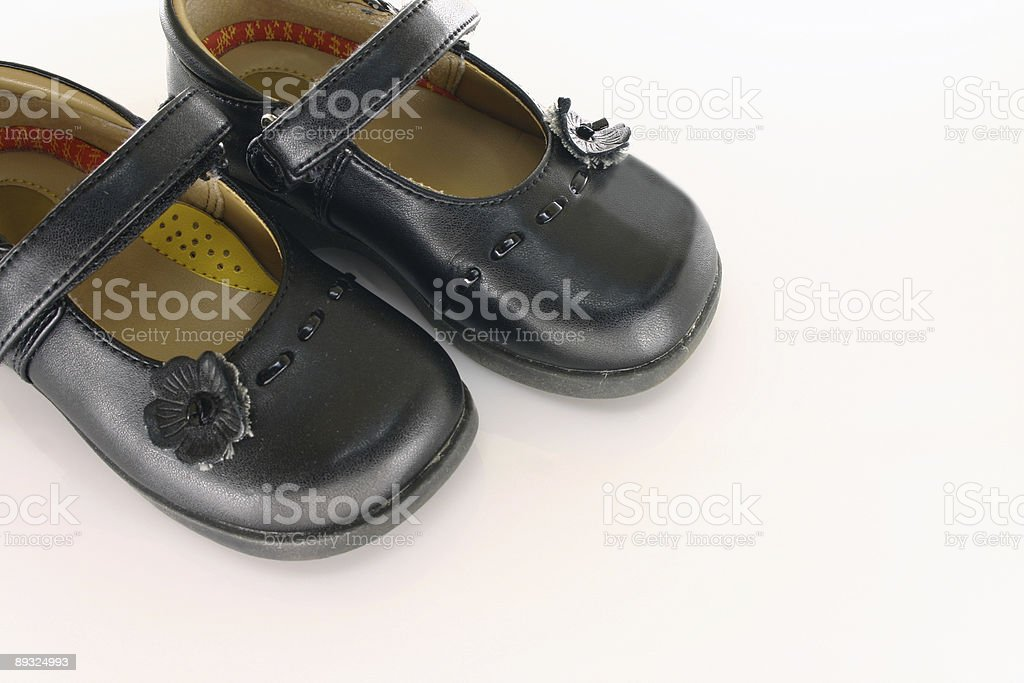 Girls Dress Shoes royalty-free stock photo