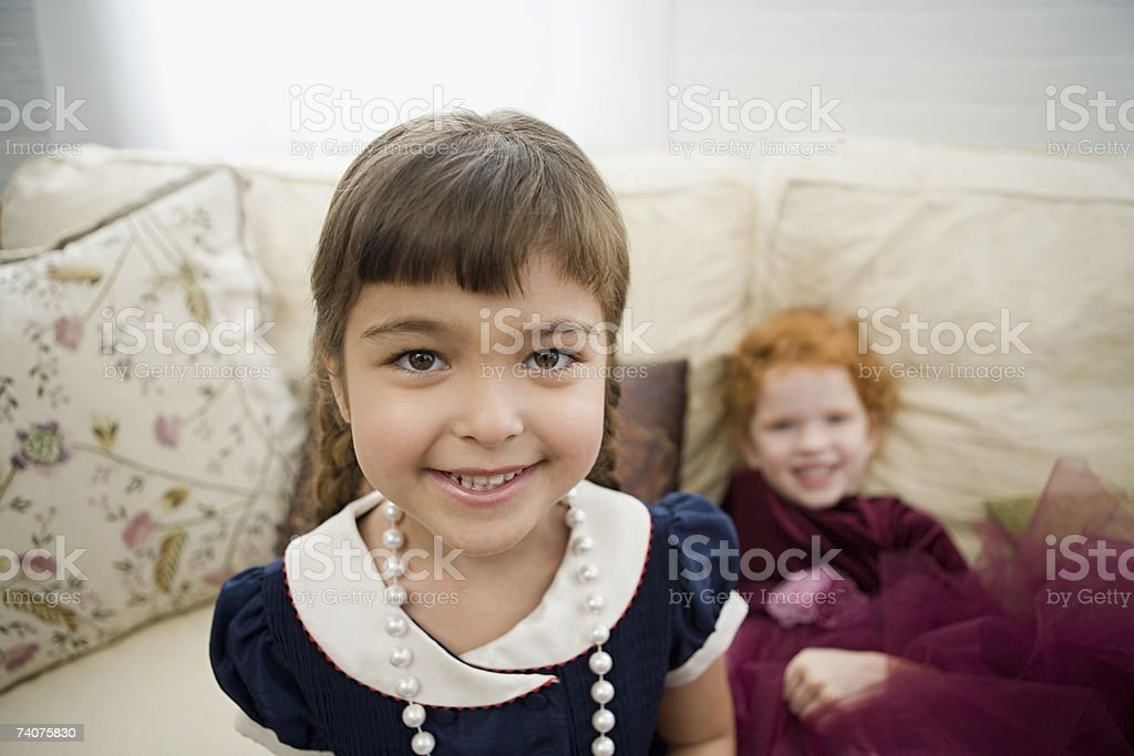 Girls dressed up royalty-free stock photo