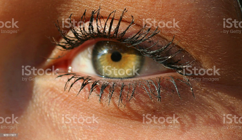 Girl´s eye royalty-free stock photo