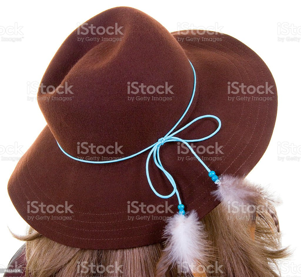 Girls Fancy Hat royalty-free stock photo