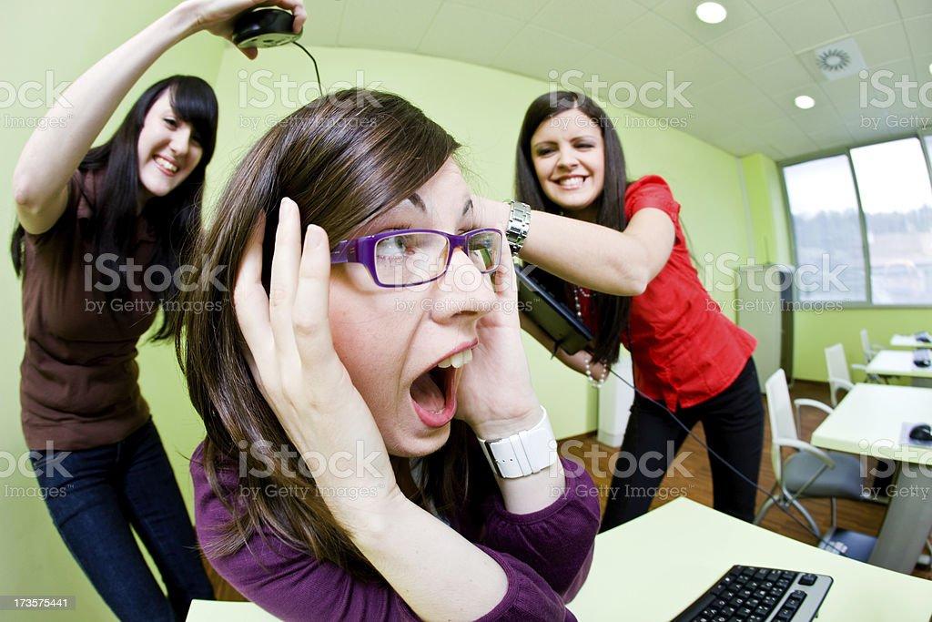 Girls fighting royalty-free stock photo