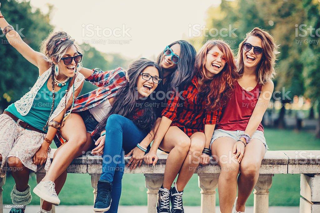 Girls Fun stock photo